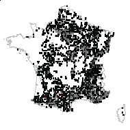 Clematis vitalba L. - carte des observations